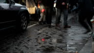 Pedestrian traffic in winter video