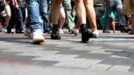 Pedestrians Crossing Street video