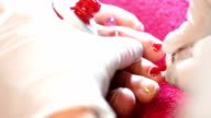 Pedicure treatment. video