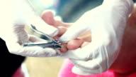 Pedicure treatment. video