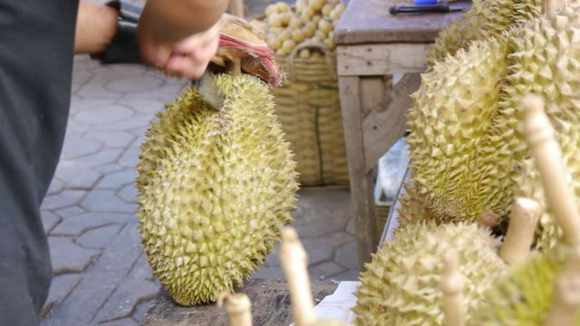 Peeled durian video