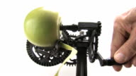 Peeling Green Granny Smith Apple with Antique Appliance video