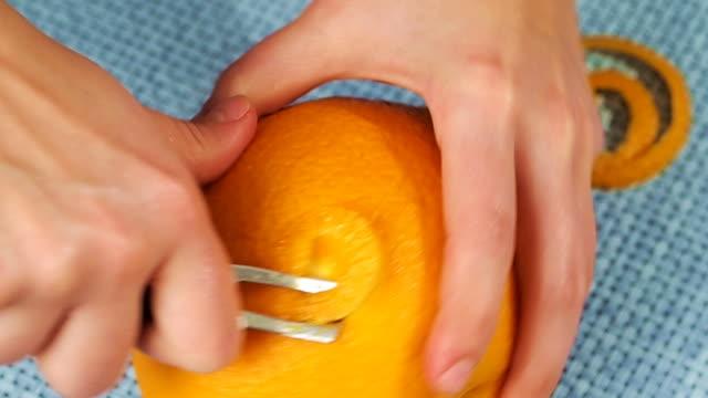 Peeling orange video