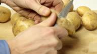 Peeling potatoes video