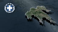 Peloponnese with Coat Of Arms Animation Map video