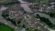Pembroke Castle And Town  - Aerial View - Wales, County of Pembrokeshire, Pembroke, United Kingdom video