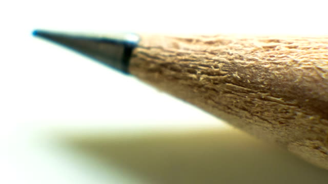 Pencil point close up. video
