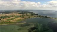Peninsular East Of Aarhus  - Aerial View - Central Jutland, Denmark video