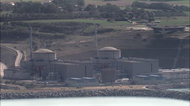 Penly Nuclear Power Plant  - Aerial View - Haute-Normandie, Seine-Maritime, Arrondissement de Dieppe, France video
