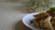 penne pasta cream cheese video