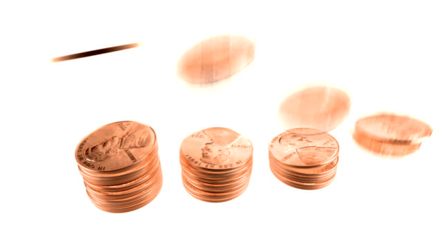 pennies stack video