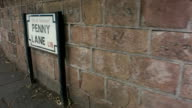 Penny Lane sign wall background Liverpool England video