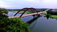 Pennybacker Bridge  Evening Austin , Texas hill Country video