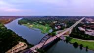 Pennybacker Bridge  Really High Timelapse Sunset Austin , Texas hill Country video