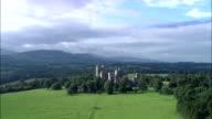 Penryhn Castle  - Aerial View - Wales, United Kingdom video