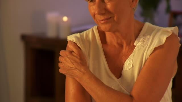 HD DOLLY: Pensive Senior Woman video