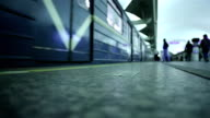 People and train in the St. Petersburg Metro video