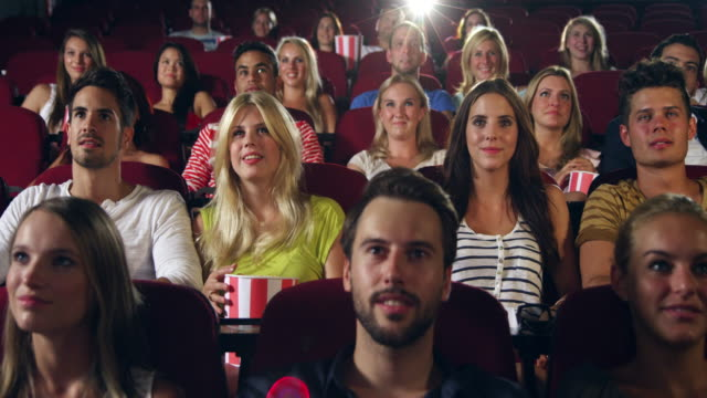 People applause in Cinema video