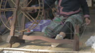 UHD/4k Apple ProRes (HQ) : People are silk weaving in Thailand. video