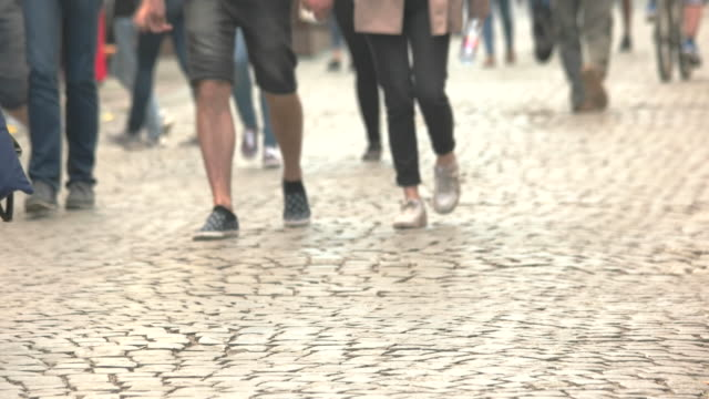 People are walking fast. video