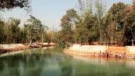 People Bathe River Inle video