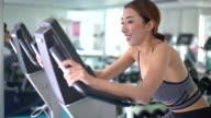 People Biking At Gym, Exercise Bike video