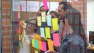 People brainstorming at a creative office video