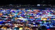 People Bustling in Train Night Market of Bangkok video