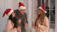 People christmas party with alcohol video