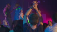 HD DOLLY: People Clapping To The Rhythm At Night Club video