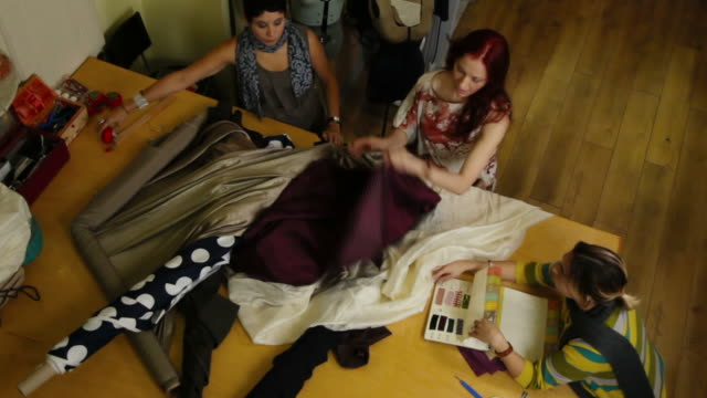 People creating fashion video