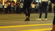 HD: People crossing the street in Hong Kong video