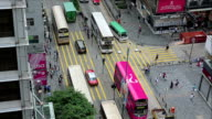 People crossing the street, shopping in Hong Kong. video