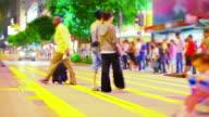 People crossing the street video