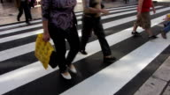 People crossing the street video