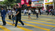 people crowded at Tsim Sha Tsui in Hong Kong video