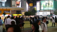 people crowded in Hong Kong City video