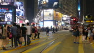 people crowded in Hong Kong video