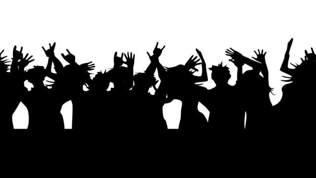 People dancing. Looped. On a white background video