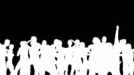 People Dancing Silhouette 3D Vector Animation video