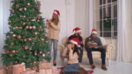 People enjoy winter holiday video