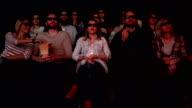 people enjoying in the cinema watching a movie video