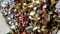 People from different countries have locked their loves to this bridge video