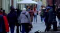 People hurry on business. video