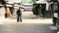 WS People  in ancient Japan village video
