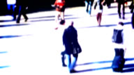 People in crowd video