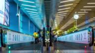 People in escalator, Time lapse - 4k video