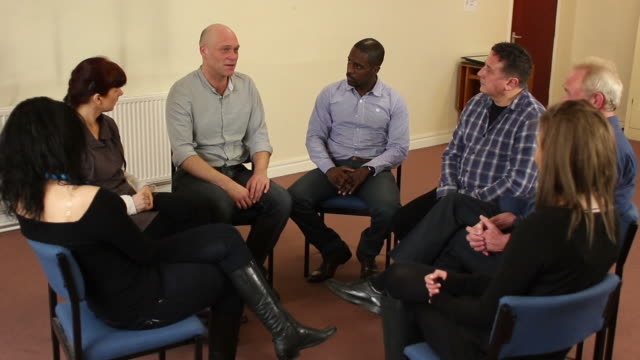 People in Group Therapy / Counselling video