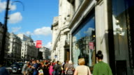 T/L POV People In London Regent Street (4K/UHD to HD) video