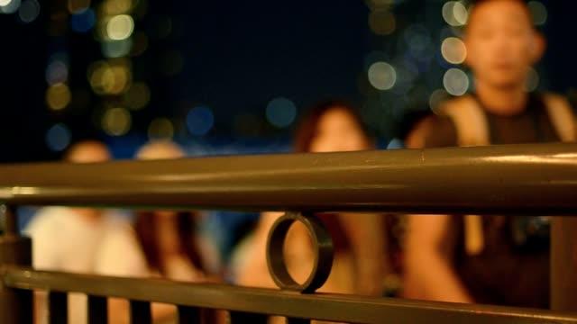 people in sideways at night video